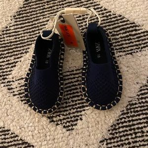 Zara Navy Blue slip on Espadrilles